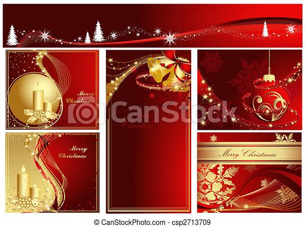 zalige kerst, verzameling - csp2713709