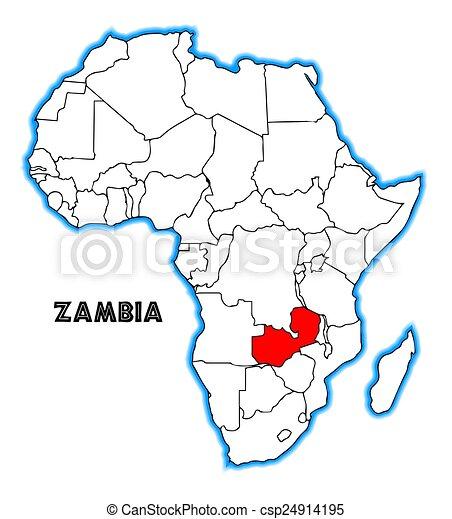 Zambia Map Of Africa.Zambia