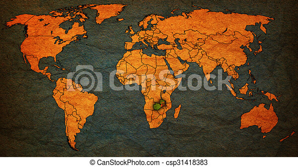 Zambia territory on world map zambia flag on old vintage stock zambia territory on world map csp31418383 gumiabroncs Gallery