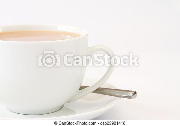 zamknięcie, herbata, wizerunek, do góry, filiżanka - csp23921418