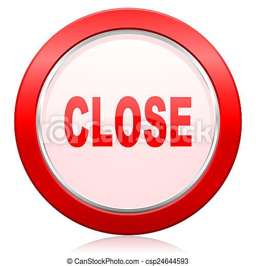 zamknięcie, ikona - csp24644593