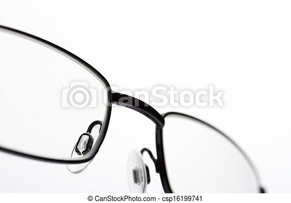 zamknięcie, wizerunek, oko, do góry, okulary - csp16199741