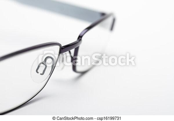 zamknięcie, wizerunek, oko, do góry, okulary - csp16199731