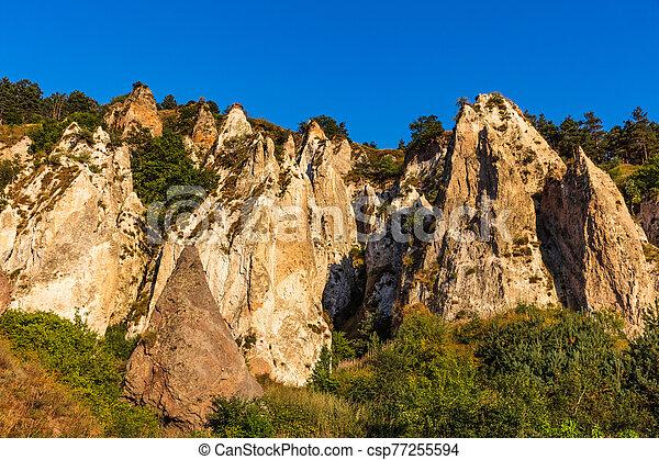zangezur, grenzstein, goris, berge, syunik, wald, gestein, armenien - csp77255594