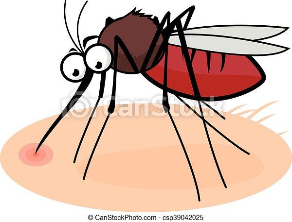 Zanzara sangue succhia cartone animato succhiare