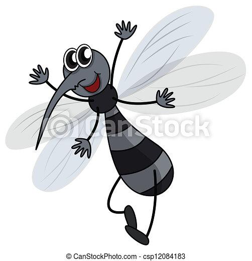 Sfondo Bianco Zanzara Illustrazione