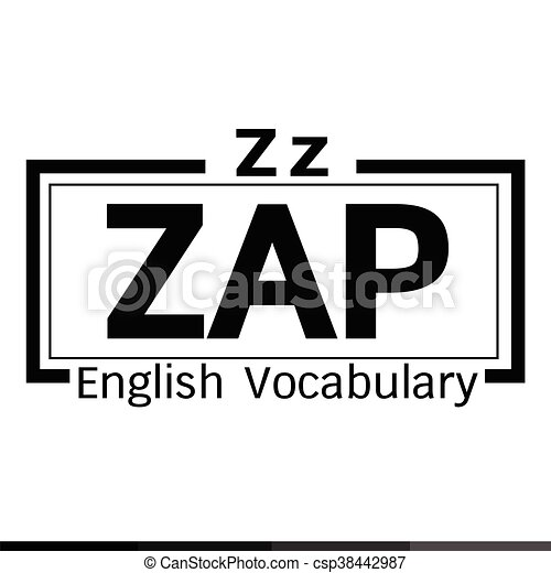 ZAP english word vocabulary illustration design - csp38442987