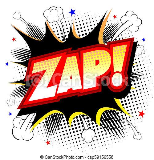 Zap illustration - csp59156558