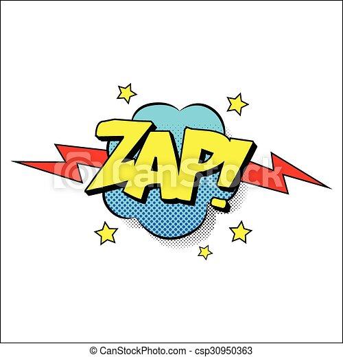 Zap sound effect illustration - csp30950363