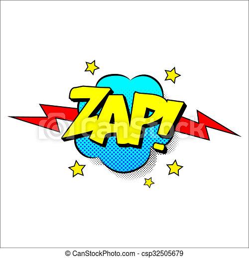 Zap sound effect illustration - csp32505679