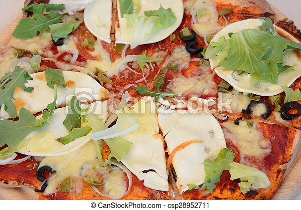 zatkać się, pizza - csp28952711
