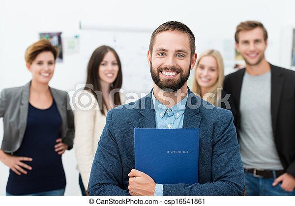 zaufany, szczęśliwy, biznesmen - csp16541861