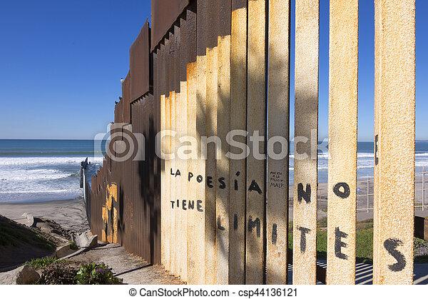 Zaun Mexiko Sandstrand Usa Umrandungen Tijuana Stahl