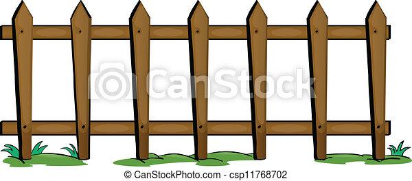 Zaun Fechten Weisser Hintergrund Abbildung