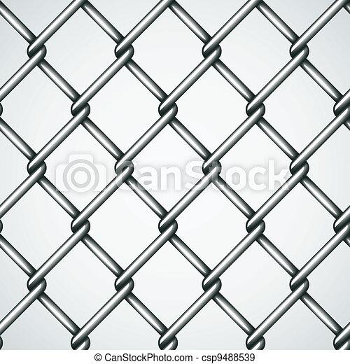 Zaun, vektor, draht, hintergrund, seamless.