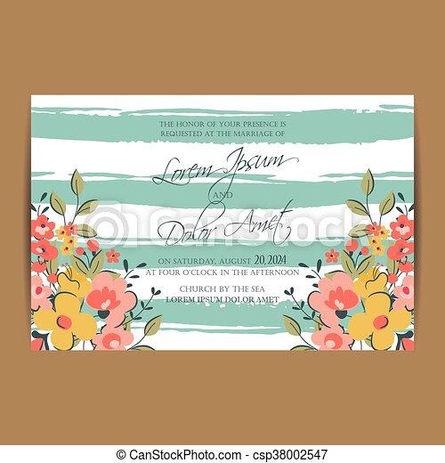 Zawiadomienie ślub Albo Karta Zaproszenie Plik Wektorowy Eps