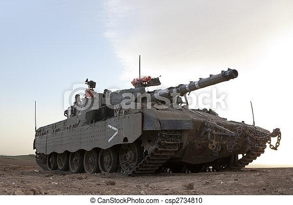 zbiornik, merkava, baz, mk, 4, bitwa, główny kanał - csp2734810