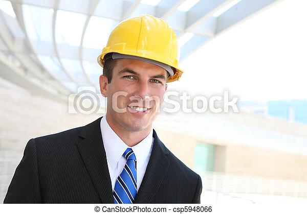 zbudowanie, człowiek, handlowy - csp5948066