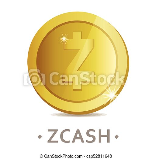 Zcash Vector Icon As Golden Coin Symbol Cryptocurrency Sign