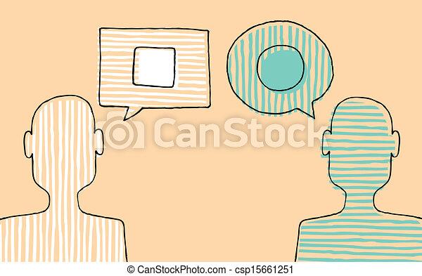 zdania, różny, dyskutując, ludzie - csp15661251