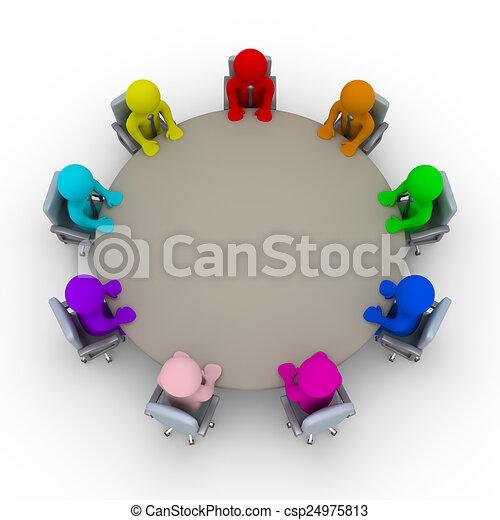 zdania, różny, spotkanie - csp24975813