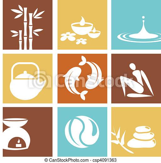 zdrój, zen, ikony - csp4091363