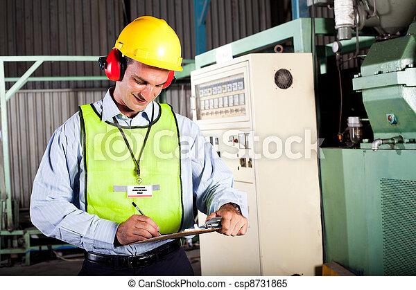 zdraví, pracovní, bezpečnost, důstojník - csp8731865