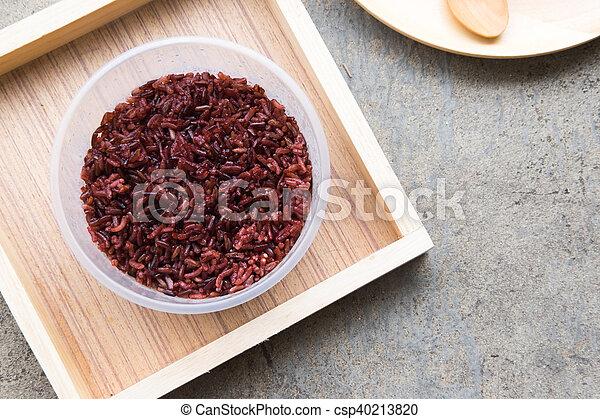 zdrowe jadło, jagoda, ryż, urżnięty - csp40213820