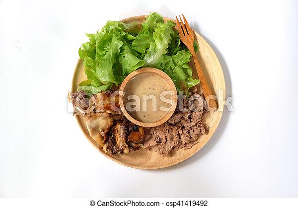 zdrowe jadło, sałata, swojski - csp41419492