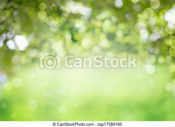 zdrowy, świeży, zielone tło, bio - csp17589160