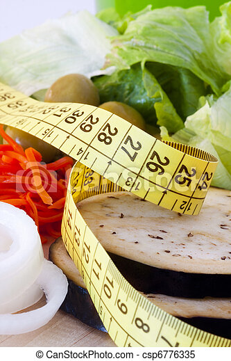 zdrowy, obciążać stratę, dieta - csp6776335