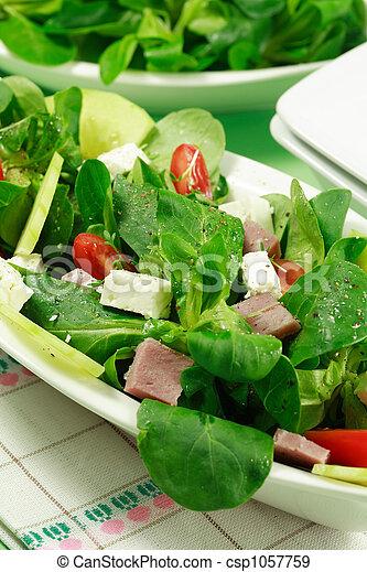 zdrowy, pole, salad-, jadło - csp1057759