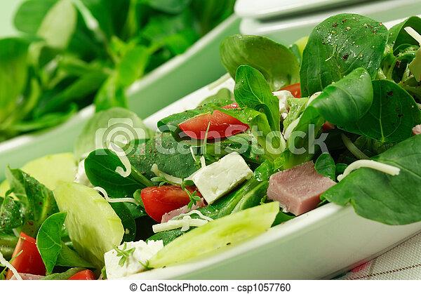 zdrowy, pole, salad-, jadło - csp1057760