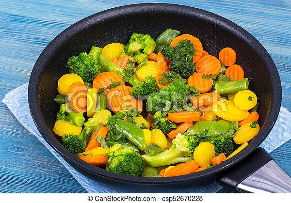 zdrowy, roślina, jadło., zmieszać - csp52670228