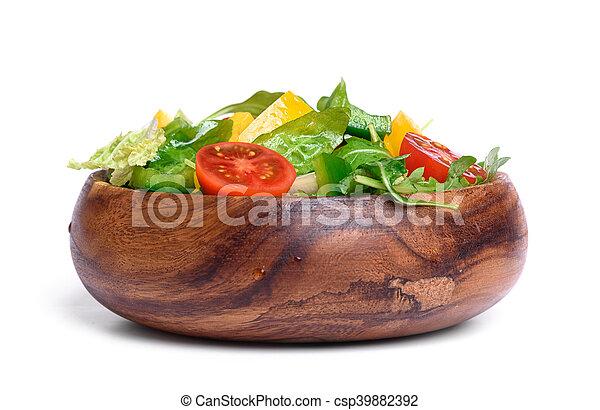 zdrowy, roślina, sałata, jadło. - csp39882392