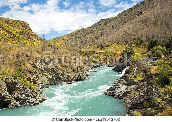 zealand, magnífico, paisajes, nuevo - csp19543762