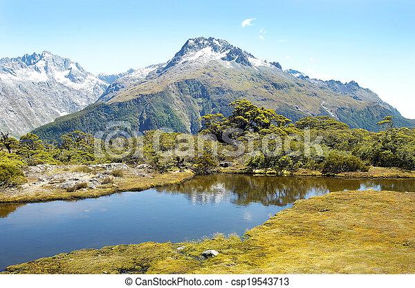 Magníficos paisajes de Nueva Zelanda - csp19543713