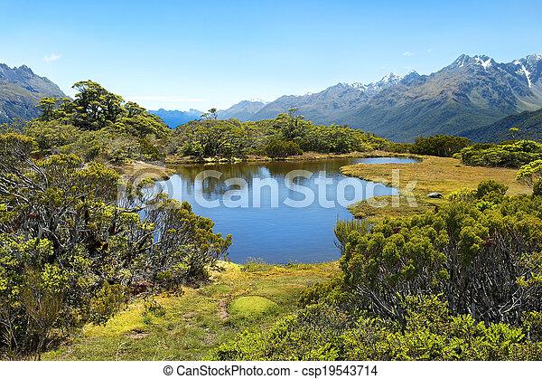 Magníficos paisajes de Nueva Zelanda - csp19543714