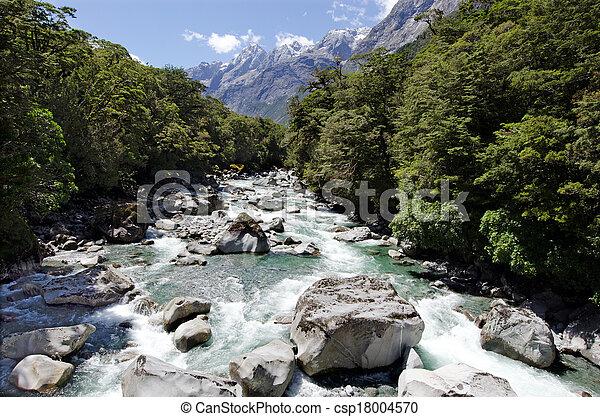 Fiordland, Nueva Zelanda - csp18004570