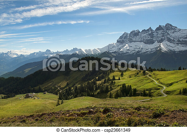 Paisajes de Nueva Zelanda - csp23661349