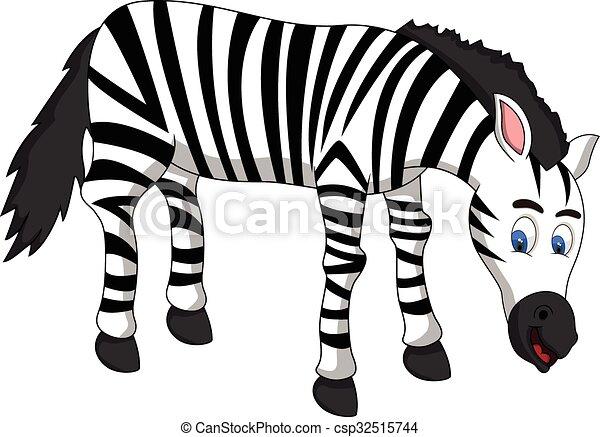 Line Art Clipart : Cute zebra cartoon full color eps vector search clip art