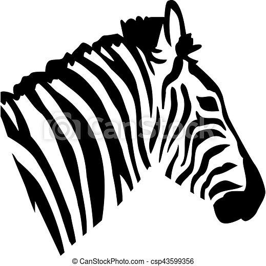 Zebra head portrait.
