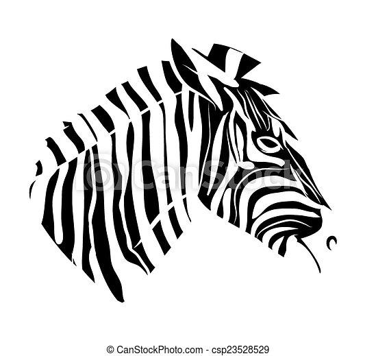 Zebra head tattoo - csp23528529
