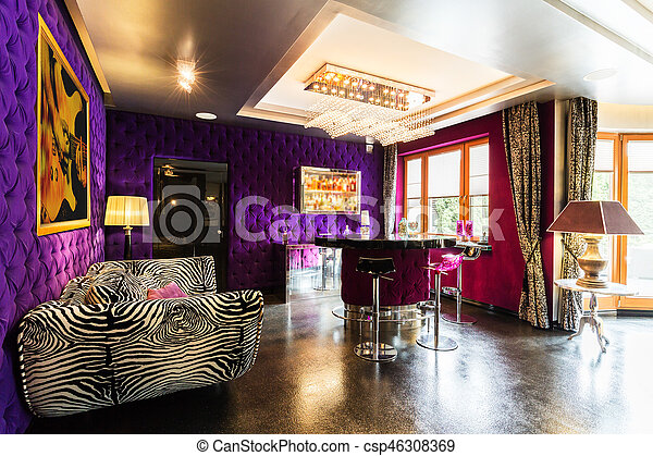 Zebra levend moderne kamer sofa levend bar kamer model