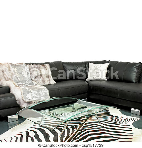 Zebra living room