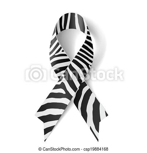 zebra-print, リボン - csp19884168