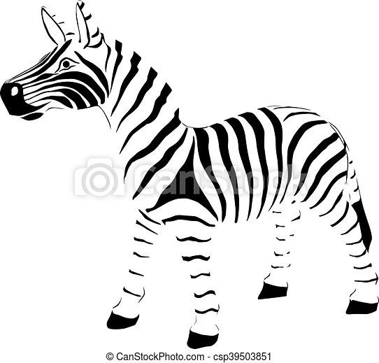 Zebra Vector Illustration Zebra On White Background Vector Vector