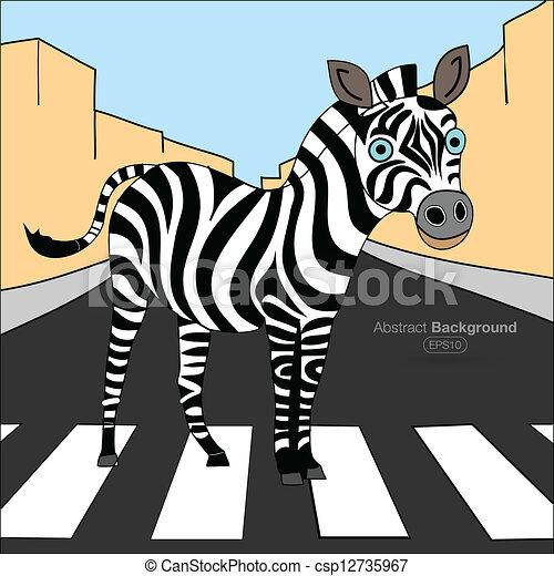 Zebra Crossing Stock Illustrations 729 Zebra Crossing Clip Art