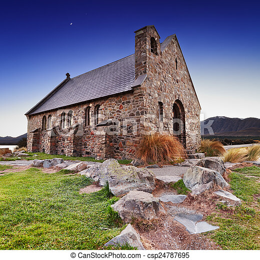 zeeland, nieuw, goede herder, kerk - csp24787695