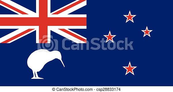 zeeland, nieuw, vlag, kiwi - csp28833174